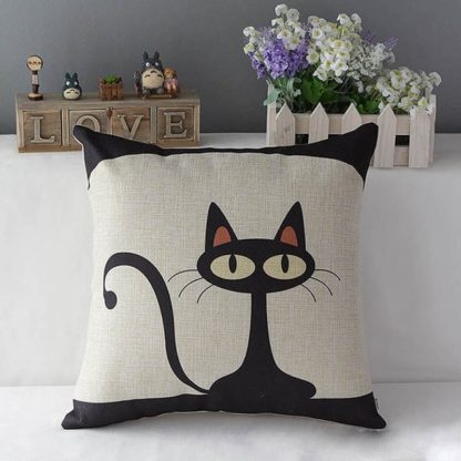 housse coussin chat