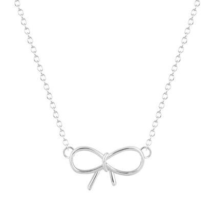 collier noeud argenté