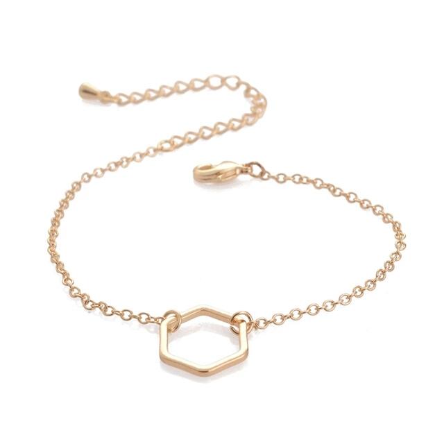 Bracelet geometrique dore
