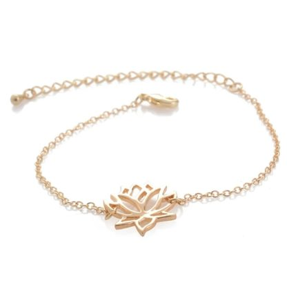 Bracelet fleur doré