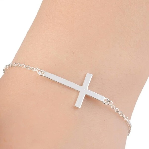 bracelet tendance croix