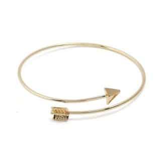 bracelet fleche dore