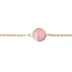 bracelet jade rose