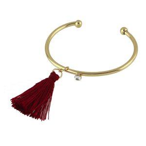bracelet jonc rouge