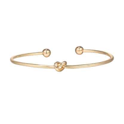 bracelet noeud dore