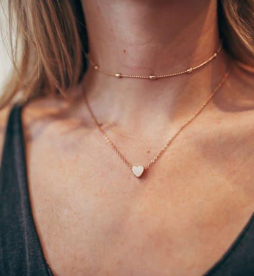collier coeur femme