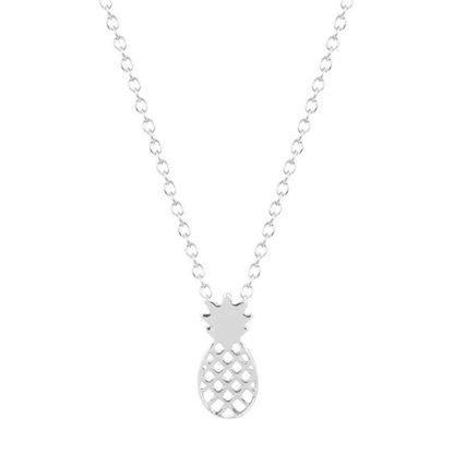 collier ananas argente