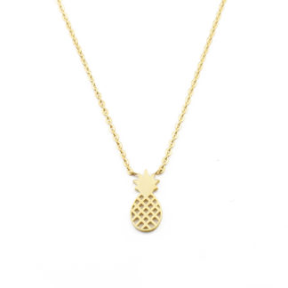 collier ananas dore