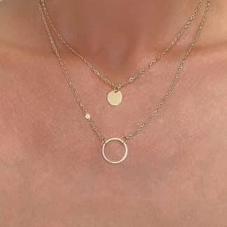 collier deux rangs cercle