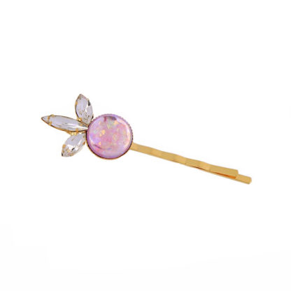 barrette cheveux retro rose