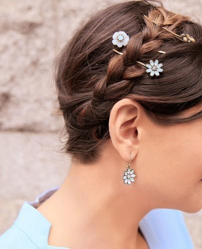 barrette fleur cheveux