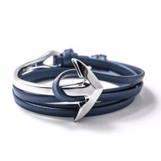 bracelet ancre argente