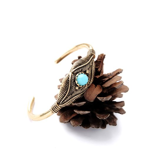 bracelet jonc turquoise femme