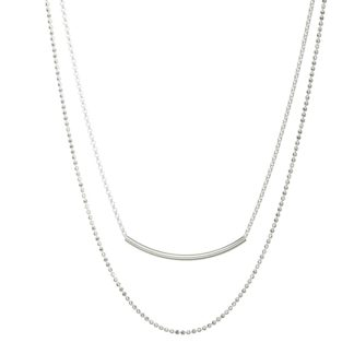 collier multi rangs argente
