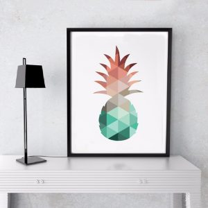 cadre toile ananas