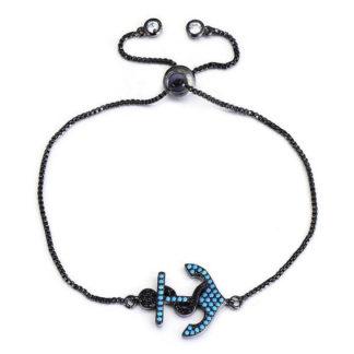 bracelet ancre noir