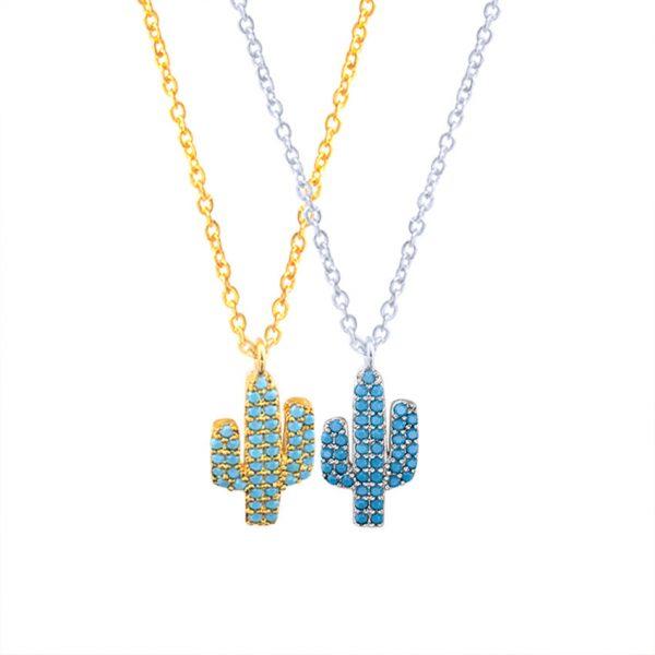 collier cactus cadeau