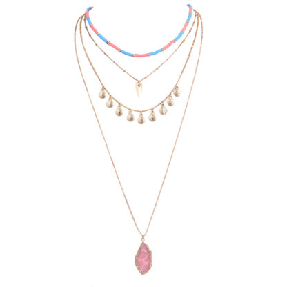 collier multirangs tendance