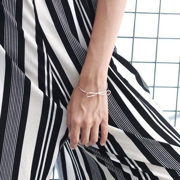 bracelet noeud argente