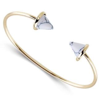bracelet marbre blanc