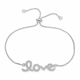 bracelet love zirconium