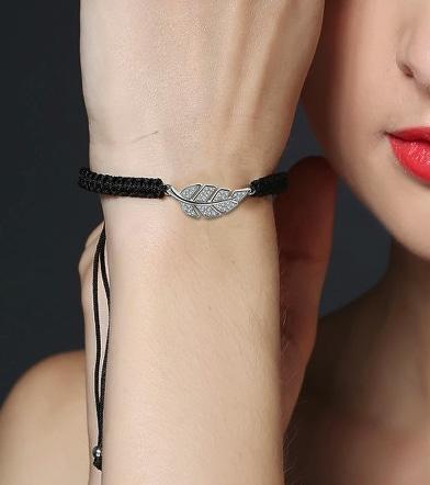 bracelet plume cadeau tendance