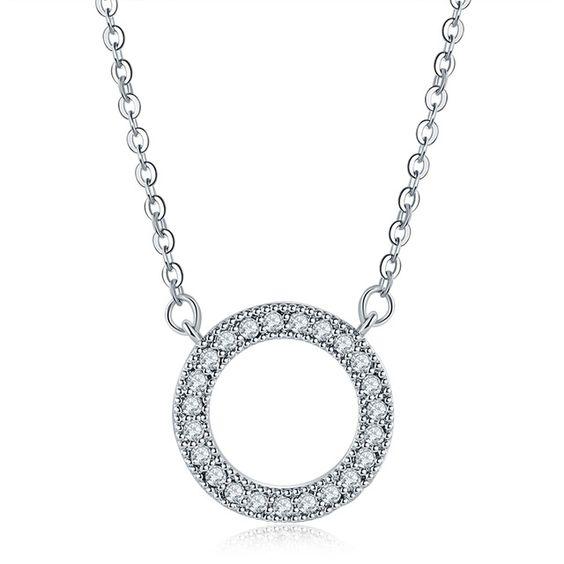 collier cercle strass cadeau femme