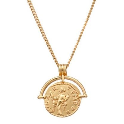 collier medaille plaque or pas cher