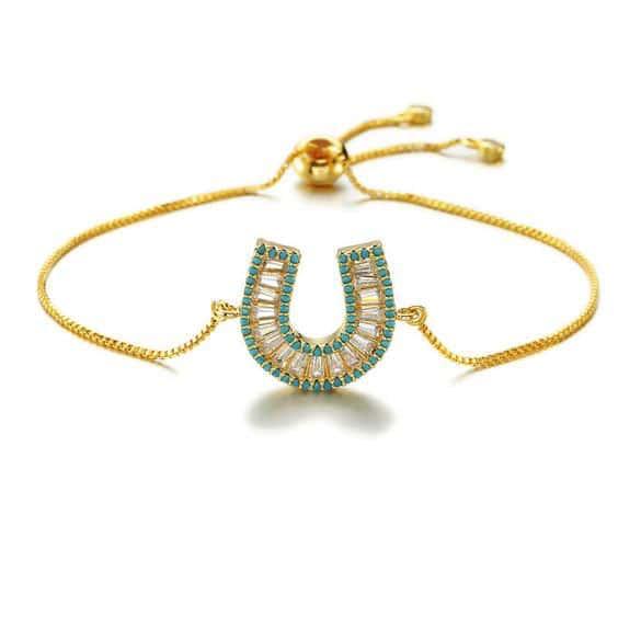bracelet fer a cheval dore