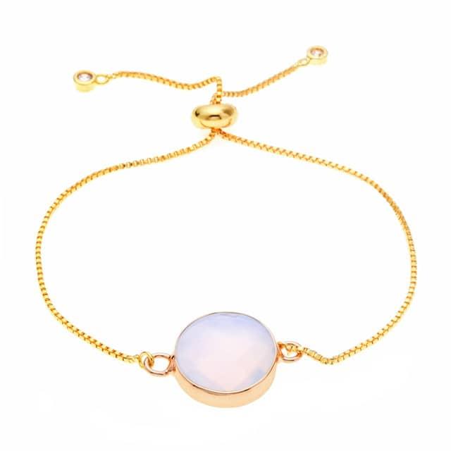 bracelet pierre rose cadeau