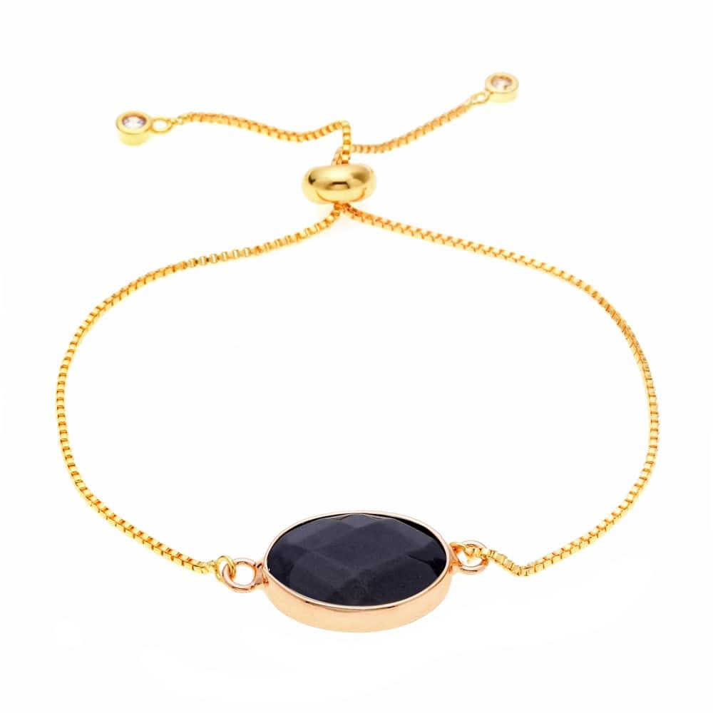 bracelet pierre noire