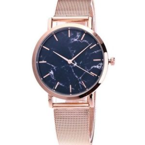 montre marbre or rose