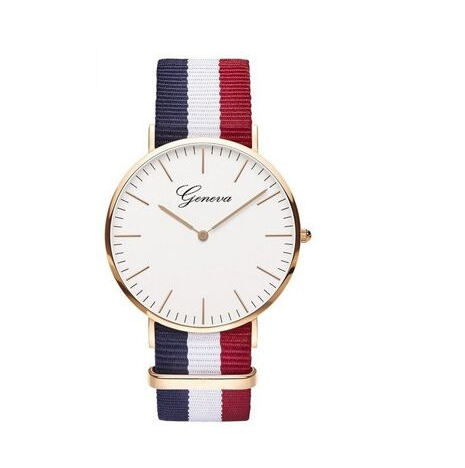 montre bleu rouge blanc