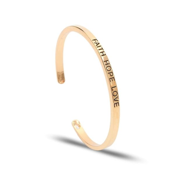 bracelet jonc faith hope