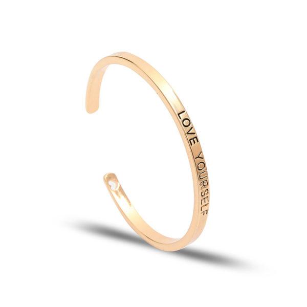 bracelet jonc love yourself