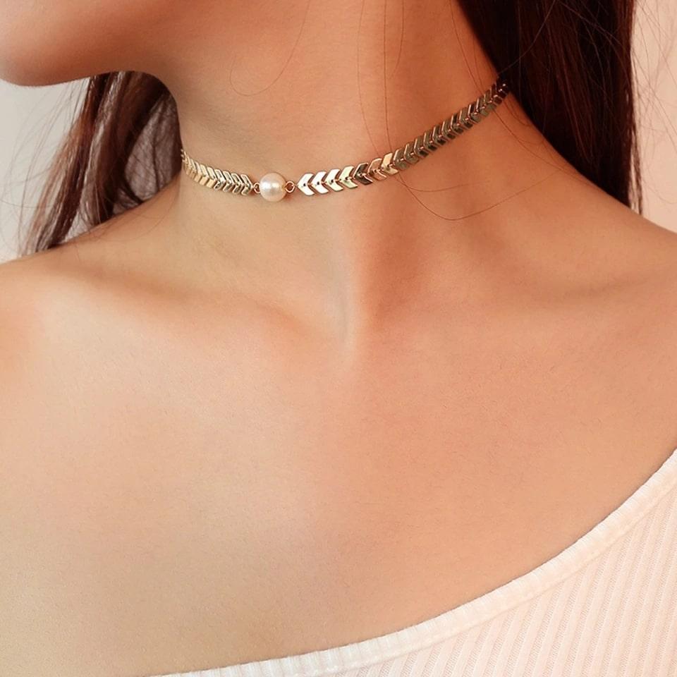 c4092de169ea collier ras du cou perle – La Parisienne Bijoux