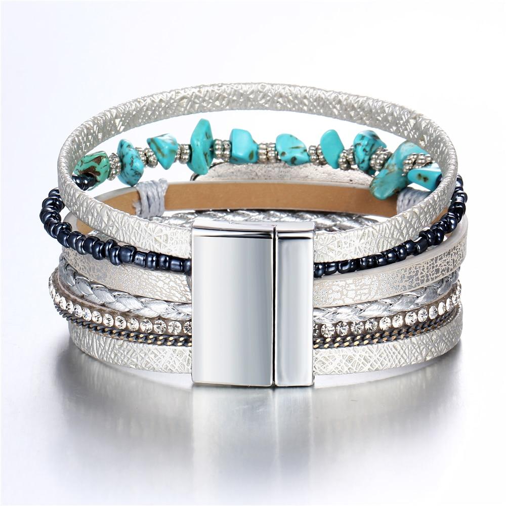 bracelet multitours argente