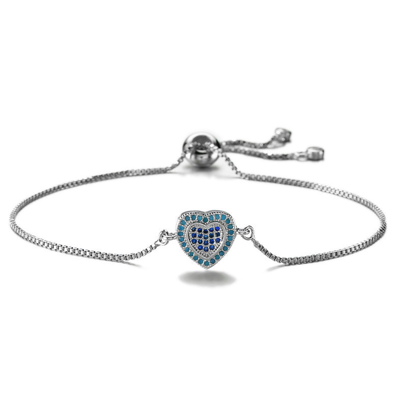 bracelet coeur argente