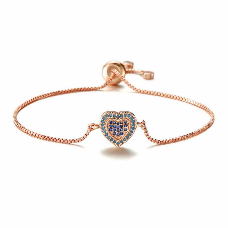 bracelet coeur dore