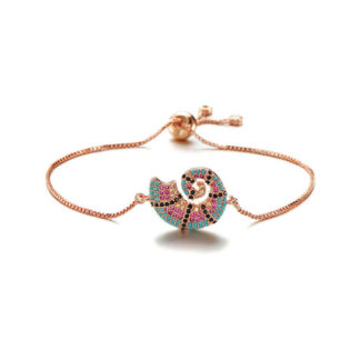 bracelet coquillage or rose