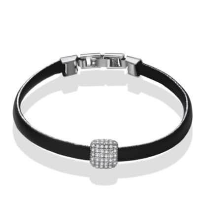 bracelet cuir femme argent