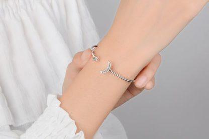 bracelet jonc argent cadeau