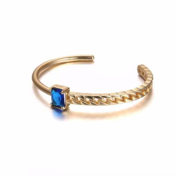 bracelet jonc dore