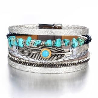 bracelet manchette multitours