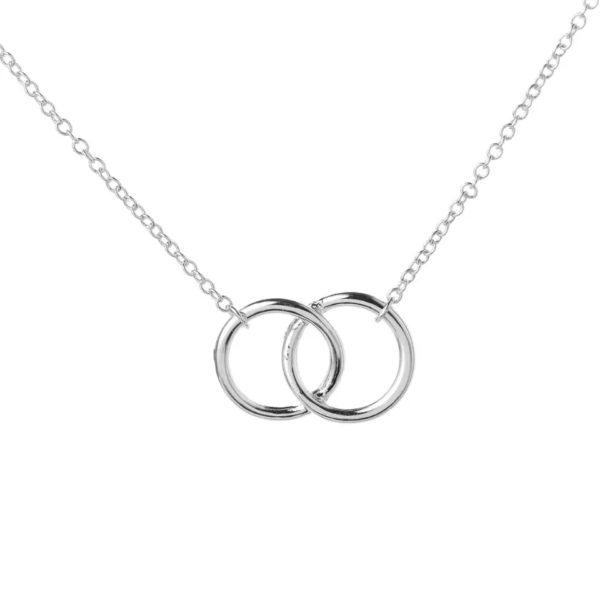 collier cercle argente femme
