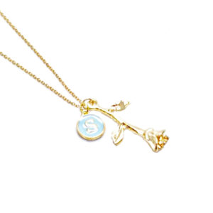 collier personnalise dore