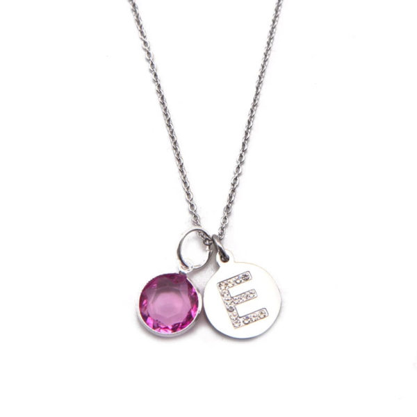 collier personnalise rose