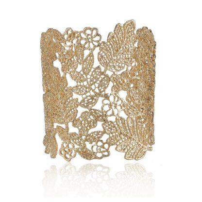bracelet dentelle dore