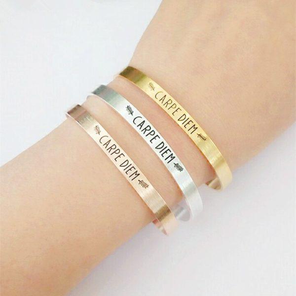 bracelet carpe diem cadeau