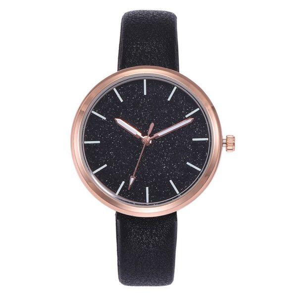 montre noire pour femme
